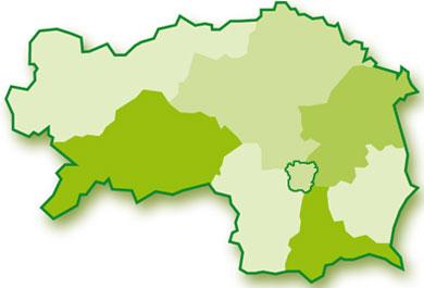 Steiermark Karte Flüsse.Regionen Der Steiermark Steiermark360
